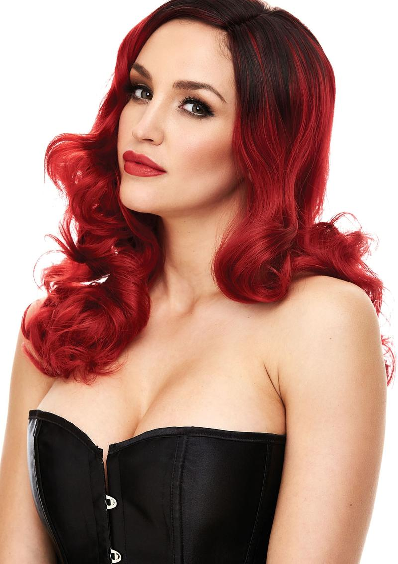 Candice Red and Black Wig