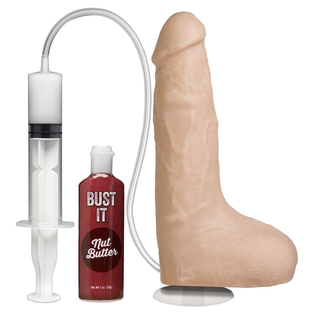 Doc Johnson Squirting Realistic Cock with Vac-U-Lock Suction Cup White Os