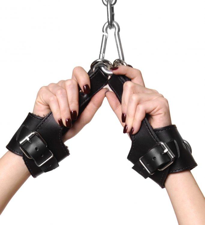Fleece Lined Leather Suspension Cuffs Bulk