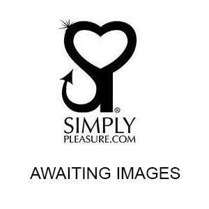 Fantasy Lingerie Curve Prosha Ribbon top garter belt and panty Black and Pink