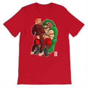 Bobo Bear ADAM LIKES BUM FLAPS T-SHIRT Red XXXL