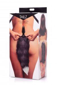 Fox Tail Anal Plug, Black