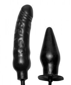 Deuce Double Penetration Inflatable Dildo And Anal Plug