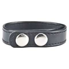 Blue Line Snap Cock Ring Black 7.75in