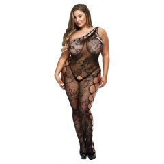 Baci Off The Shoudler Bodystocking Black Queen