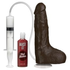 Doc Johnson Squirting Realistic Cock - With Removable Vac-U-Lock Suction Cup Black Os