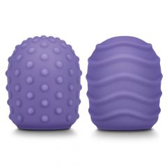 Le Wand Le Wand Petite Silicone Texture Covers Purple 2 Pack