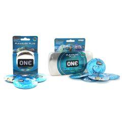 One Pleasure Plus Latex Internal Ribbed Condoms With Pleasure Pouch