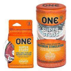 One Super Studs Latex Studded Condoms