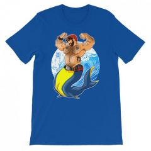 Bobo Bear ADAM LIKES SCUBA DIVING T-SHIRT Turquoise XXL