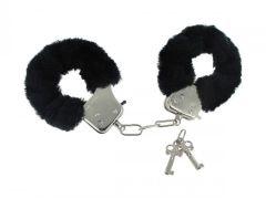 Caught In Candy  Black Furry Cuffs